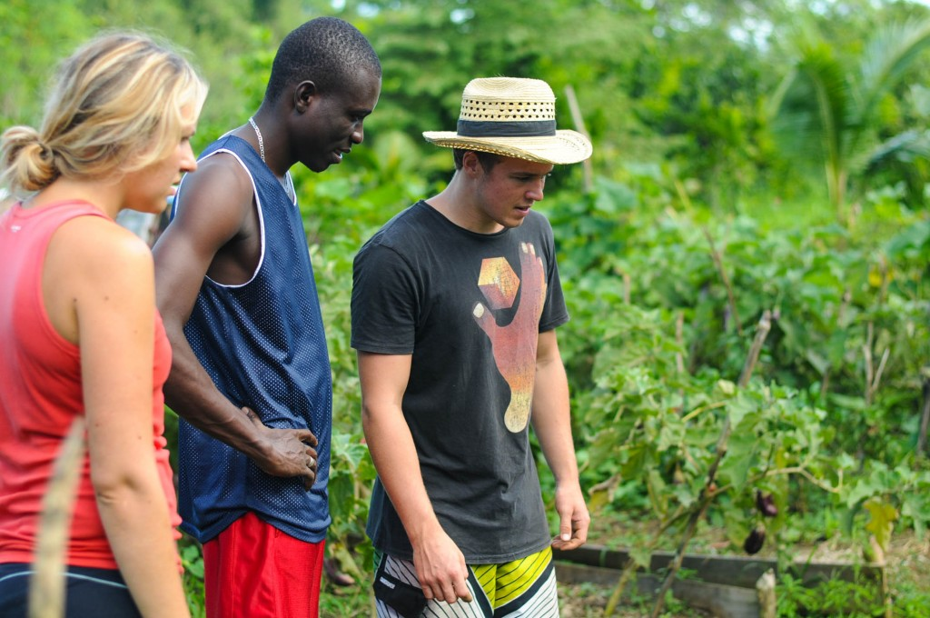 Volunteers from the Czech Republic and Haiti