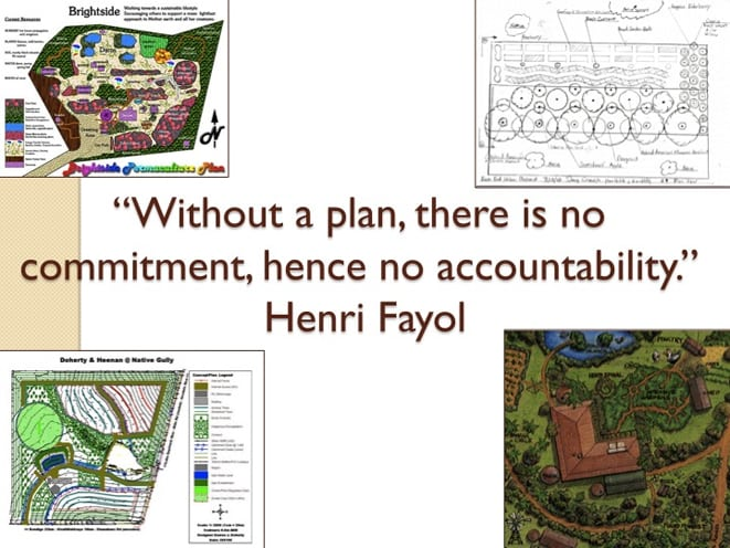 Planning in Permaculture - diagrams