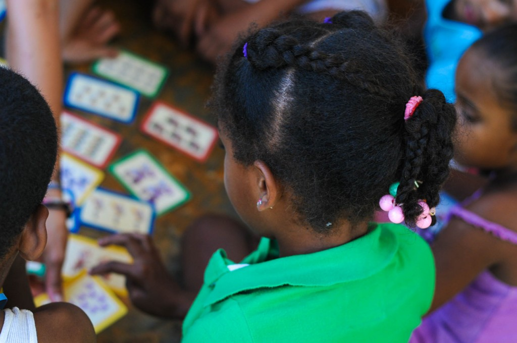 Interactive games are a great aid in teaching english in the local community.