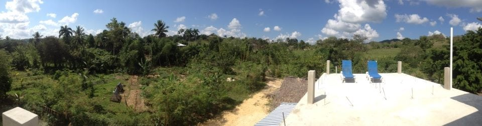Overview from the main building at Taino Farm